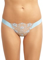 Commando Crown Embroidered Thong #LT22