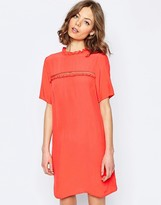 Asos Shift Dress With Frill Detail
