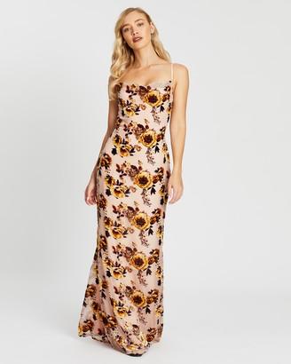Missguided Bridesmaid Devore Floral Dress