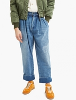 J.w. Anderson Blue Baggy Pleated Denim Trousers