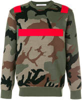 Givenchy colour-block camouflage sweater