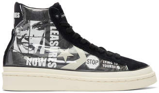Converse Grey and Black Pleasures Edition PVC High-Top Sneakers