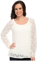 Roper 0064 Allover Lace Peasant Blouse