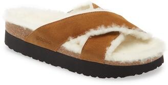Birkenstock Daytona Genuine Shearling Lined Platform Sandal