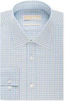 MICHAEL Michael Kors Men's Classic-Fit Non-Iron Green Multi Check Dress Shirt