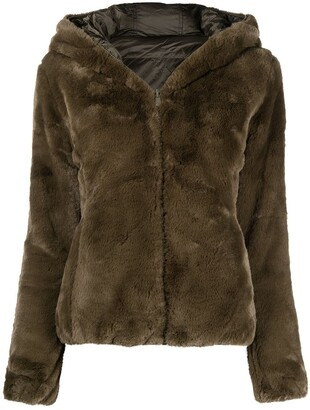 Save The Duck D3354W FURYY reversible faux-fur padded coat