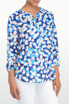 NYDJ Cannes Confetti Print 3/4 Sleeve Blouse