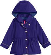 London Fog Hooded Peplum Rain Jacket, Little Girls (4-6X)