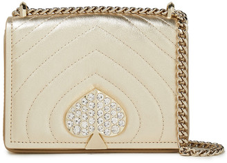 Kate Spade Amelia Crystal-embellished Quilted-leather Shoulder Bag