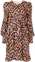 Chloé velvet poppy print dress