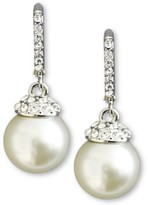Thumbnail for your product : Givenchy Earrings, Crystal Accent and White Glass Pearl