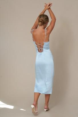 Hanna Schönberg X NA-KD Tie Back Strap Dress