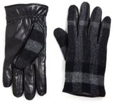 Burberry Oscar Checked Leather Gloves