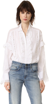 The Kooples Ruffle Front Blouse