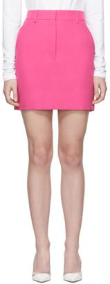 Calvin Klein Pink Stripe Uniform Miniskirt