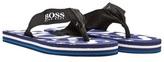 BOSS Navy Branded Flip Flops