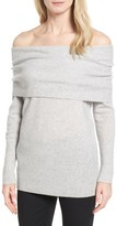 Women's Halogen Cashmere Off The Shoulder Sweater