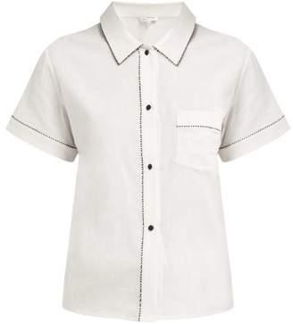 Morgan Lane - Tami Cotton Pyjama Top - Womens - White