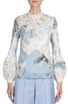 Erdem Bernice Patchwork Embroidered Top