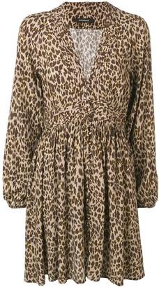 Andamane Leopard Print Short Dress