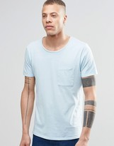 Nudie Jeans Worker Pocket T-Shirt in Light Blue