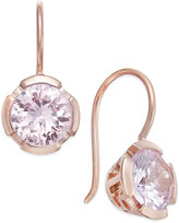 Thomas Sabo Pink Crystal Drop Earrings in 18k Rose Gold-Plated Sterling Silver