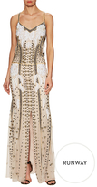 Temperley London Anya Embroidered Strappy Gown