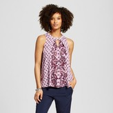 Hint of Mint Women's Printed Cut Out Swing Top - Hint of Mint (Juniors')
