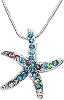 Top Plaza Women's Colorful Crystal Rhinestone Starfish Pendant Necklace, Summer Beach Wedding Bridesmaid Mother's Day Gift