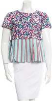 Suno Short Sleeve Patterned top