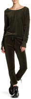 Pam & Gela Lace Up Velvet Sweatpant