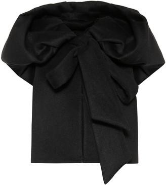 Valentino Hooded wool-blend vest