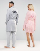 Asos Loungewear Robe With Mr Embroidery