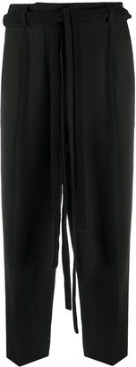 Maison Flaneur Extended Drawstring Crop Trousers