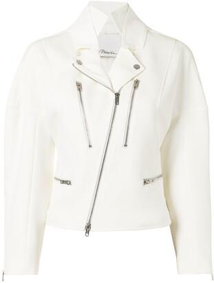 3.1 Phillip Lim Hooded Cotton Biker Jacket