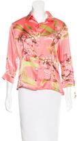 Roberto Cavalli Silk Printed Blouse w/ Tags