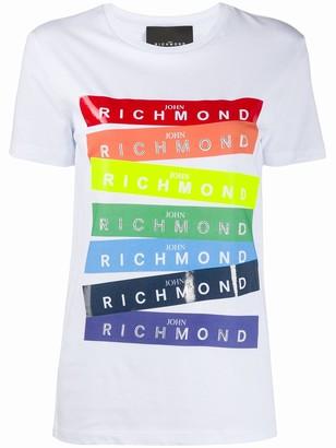 John Richmond rainbow logo print T-shirt