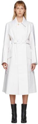 Maison Margiela White Mackintosh Trench Coat