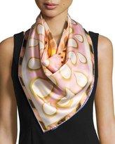 Givenchy Silk Twill Kaleidoscope Scarf, Pink