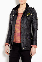 Barbour Spring Speedway High Shine Waxed Parka Jacket