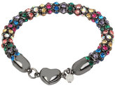 Betsey Johnson Confetti Multi Heart Magnetic Bracelet