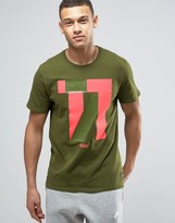 Nike F.c. T-Shirt With Numbers Print In Green 831699-331