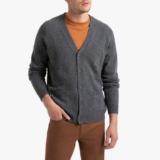 La Redoute Collections Lambswool Buttoned Cardigan