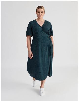 Tokito Curve Printed Wrap Midi Dress