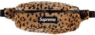 Supreme Leopard-Print Fleece Belt Bag
