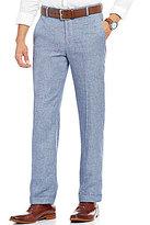 Murano Alex Modern Slim Fit Flat-Front Linen Pants