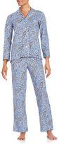 Lauren Ralph Lauren Paisley Print Pajama Set