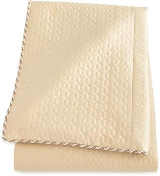 Dian Austin Couture Home Neutral Modern Queen Quilted Silk Duvet Cover