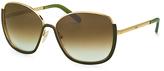 Chloé Green & Gold Oversize Sunglasses