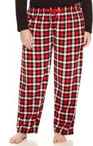 SLEEP CHIC Sleep Chic Fleece Pajama Pants-Plus